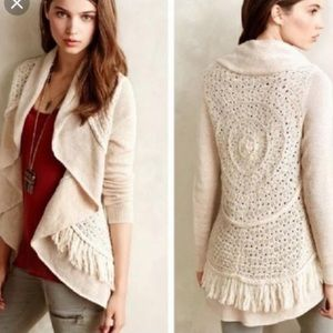 Anthropologie Sweaters - Anthropologie Knitted & Knotted fringe cardigan❤️